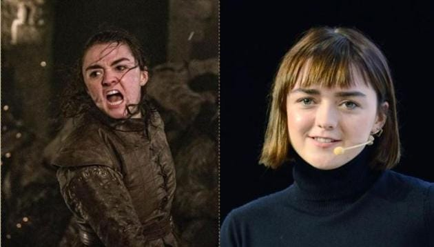 Maisie Williams said her character Arya on Game of Thrones was trying to be disguised as a boy.