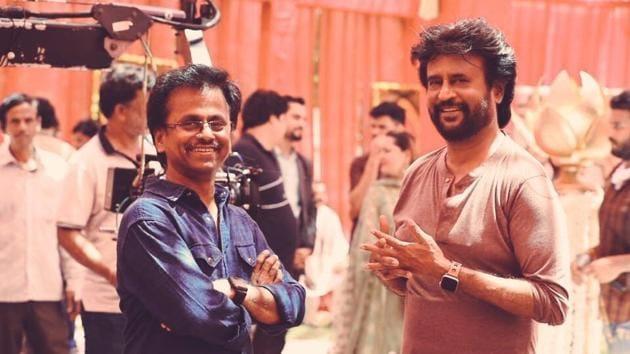 Rajinikanth on sets of Darbar.