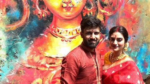 Nusrat Jahan also posted pictures from her Durga Ashtami celebrations on Instagram.(Photo: nusratchrips/ Instagram)