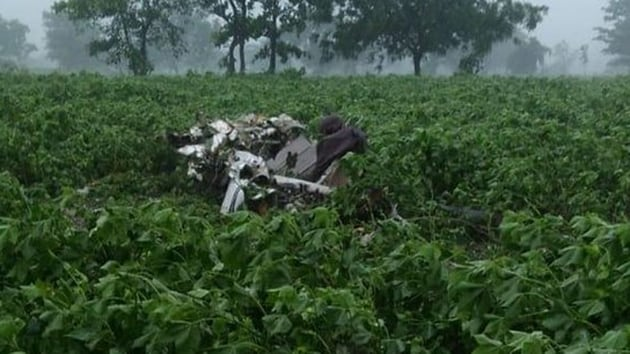 The scene from the crash site. (ANI photo)