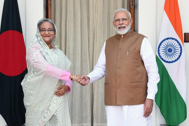 """It is easy to understand why Mr Modi spoke to Ms Hasina about bilateral ties currently passing through a """"(AFP)"""