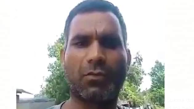 The CRPF constable Pramod Kumar. (Screengrab from his viral video)