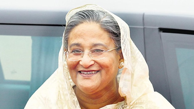 The Congress said Gandhi accepted Hasina's invitation to visit her country for commemoration of the 50th anniversary of Bangladesh's liberation.(HT image)