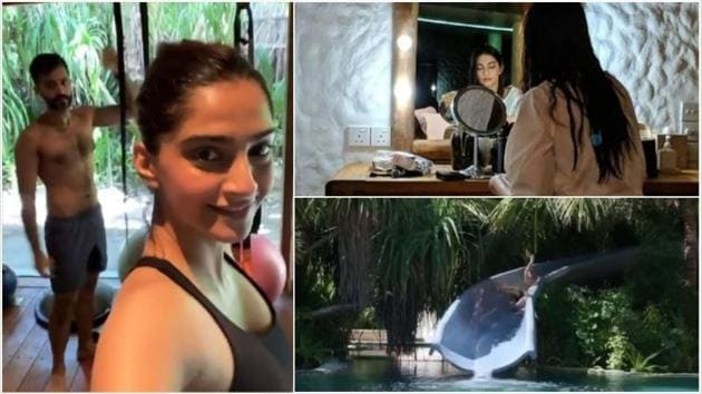 Sonam Kapoor and Anand Ahuja are vacationing together in Maldives.
