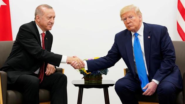 US President Donald Trump and his Turkish counterpart Tayyip Erdogan(Reuters image)