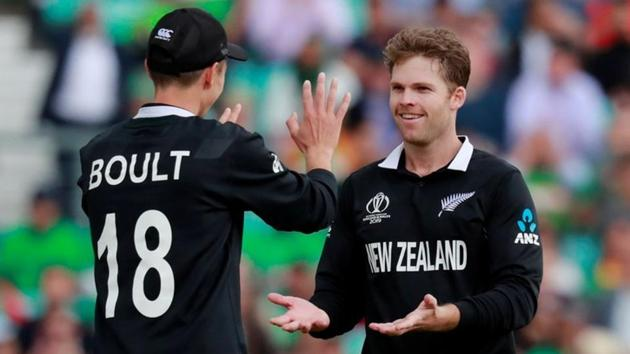 File image of Lockie Ferguson celebrating the fall of a wicket with Trent Boult.(Action Images via Reuters)