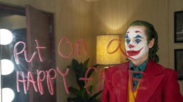 Joaquin Phoenix in a scene from the film, Joker.(AP)