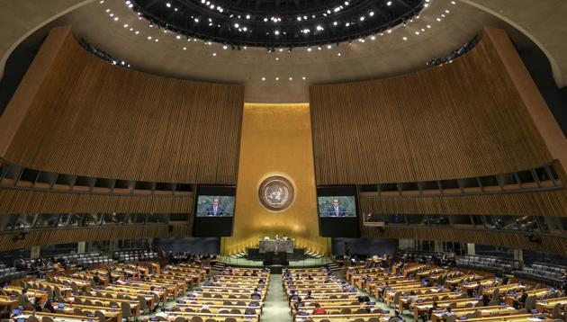 The United Nations General Assembly at the U.N. headquarters, New York.(AP)