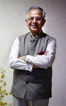 Rajendra K Saboo, 85, is synonymous with Chandigarh.(Sanjeev Sharma/HT)
