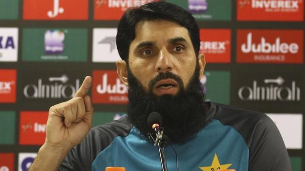 Pakistan's head coach and chief selector Misbah-ul-Haq(AP)