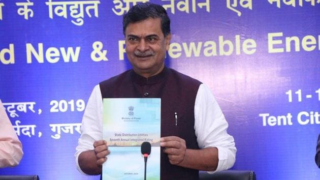 """Union Minister for Power and Energy,R K Singh said """"Prosumers"""" will be those who generate energy from renewable sources and their interests will be protected by a slew of imminent regulations.(@RajKSinghIndia/Twitter)"""