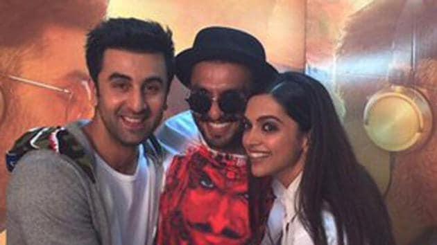 Deepika Padukone has worked on three films each with Ranbir Kapoor and Ranveer Singh.