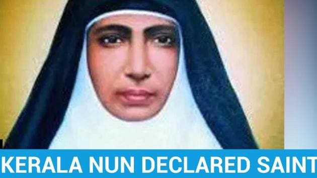 Late Kerala nun Mariam Thresia was declared a saint by Pope Francis at a grand ceremony in Vatican City. Thresia was among 4 others canonised by the Pope at the event. The others were English cardinal John Henry Newman, Swiss laywoman Margeurite Bays, Brazilian Sister Dulce lopes, and Italian Sister Giuseppina Vannini. Thresia had founded the Congregation of the Sisters of the Holy Family in Thrissur in May 1914.