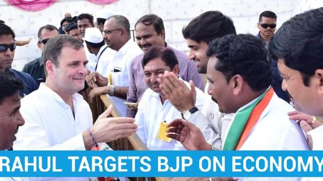 Congress leader Rahul Gandhi campaigned in Maharashtra's Latur on Sunday. His speech revolved around the economic slowdown. Gandhi accused the National Democratic Alliance government of using diversionary tactics to hide the state of the economy. The Congress leader said that the Bharatiya Janata Party talks about Chandrayaan and Article 370, instead of joblessness in the country. Maharashtra will vote on October 21 and results will be declared on October 24.