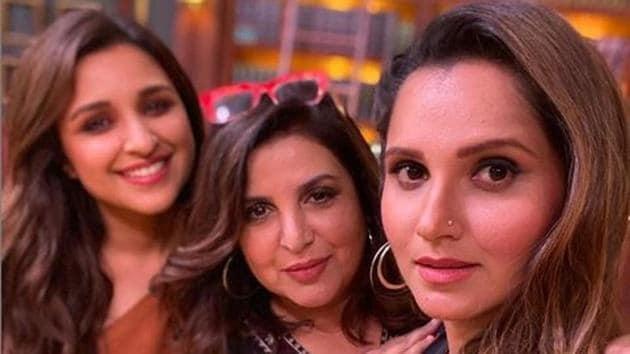 Farah Khan shared a picture with Parineeti Chopra and Sania Mirza.(Instagram)