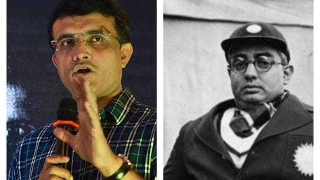 Former India captain Sourav Ganguly (left) and former BCCI president and cricketer Vizzy (right).(Twitter)