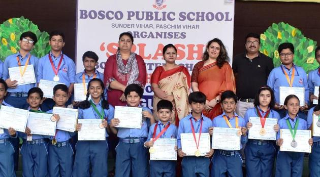 Over 250 students from 30 schools participated in Splash.(HT)