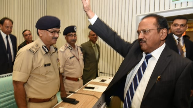 Ajit Doval explained sate-sponsored terrorism is much more than giving finances and arms to the terrorists.(Arvind Yadav/ HT Photo)