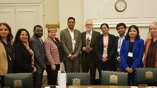 Labour MPs of Indian origin and others with large number of voters from the community have faced a backlash over the resolution seen as anti-India. (Photo @jeremycorbyn)