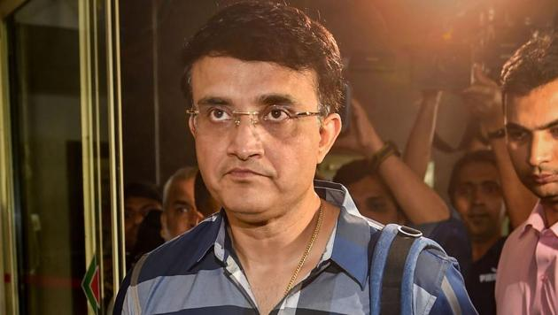 Sourav Ganguly arrives at the BCCI headquarters to file his nomination for BCCI president's post in Mumbai.(PTI)