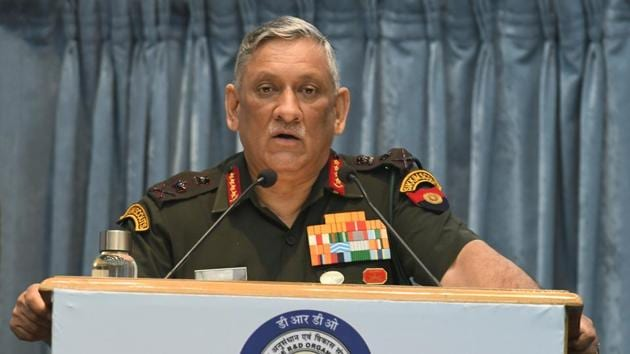 Batting for greater indigenisation in the military sector, Indian Army chief General Bipin Rawat on Tuesday asserted that India would fight and win the next war with locally produced weapons and systems.(Raj K Raj/HT PHOTO)