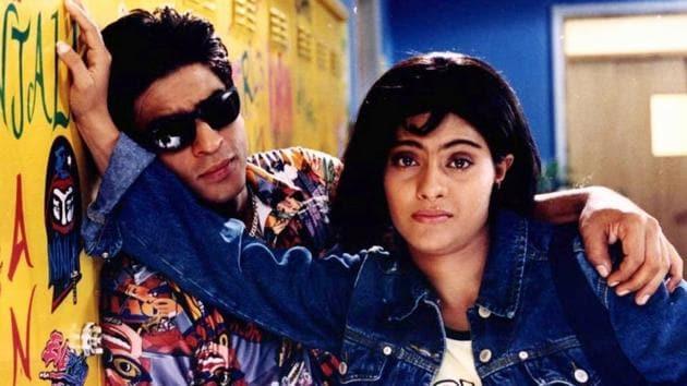 Shah Rukh Khan and Kajol in a still from Kuch Kuch Hota Hai.