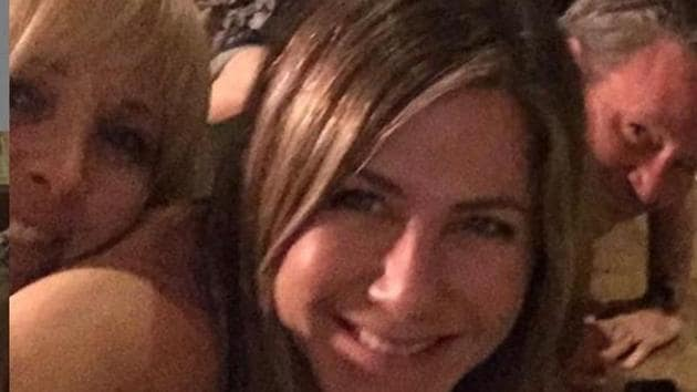 Jennifer Aniston poses with FRIENDS co-stars in her first Instagram post.