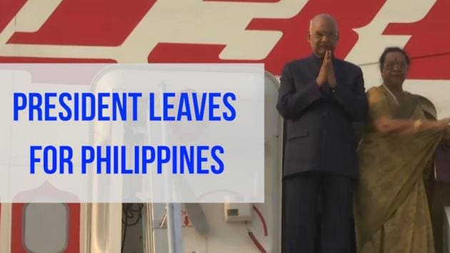 President Kovind has embarked on a 7 day visit of Philippines and Japan. The president's first destination will be the Philippines where he will hold restricted and delegation level talks with his Filipino counterpart Rodrigo Roa Duterte in Manila. From the Philippines, the president will leave for Japan on October 21 for a three-day visit. He is visiting Japan to attend the Enthronement ceremony of the Emperor of Japan Naruhito.
