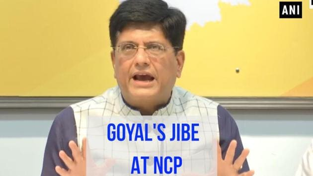 Union Minister Piyush Goyal targeted the Nationalist Congress Party days before Maharashtra chooses its next government. The Minister of Railways as well as Commerce and Industry claimed that stories of NCP corruption were 'legendary'. He also said that corruption was witnessed in whatever NCP leaders touched. The minister also targeted the Chief Minister of Rajasthan, Ashok Gehlot, challenging him to a snap election in the state.