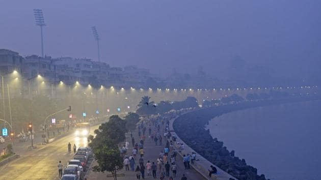 Warming oceans could put India's costal cities such as Mumbai at risk(Satyabrata Tripathy/HT Photo)