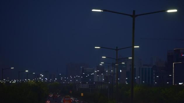There is enough evidence to show improvement in safety and business activities due to the LED streetlights(Virendra Singh Gosain/HT PHOTO)