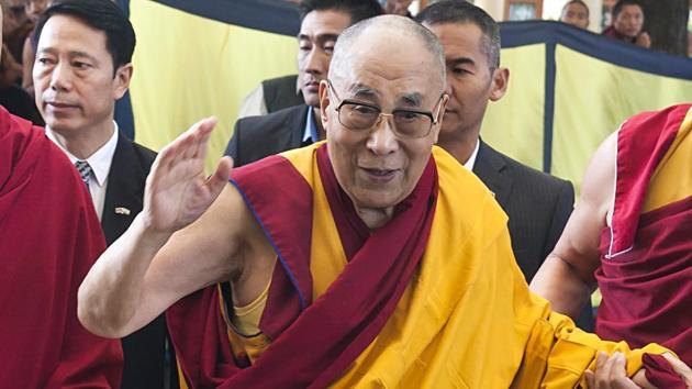 File photo of Tibetan spiritual leader Dalai Lama at an event in Mcleodganj, Himachal Pradesh.(ANI)
