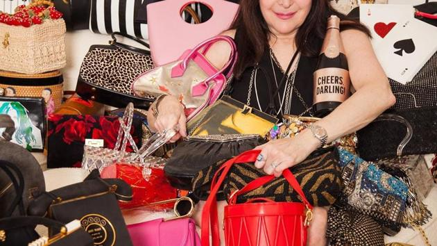 Wood, 64, in her Lehigh Valley estate, has a collection of everything including crossbodies and clutches, wristlets and duffels, hobos and backpacks.(Instagram)