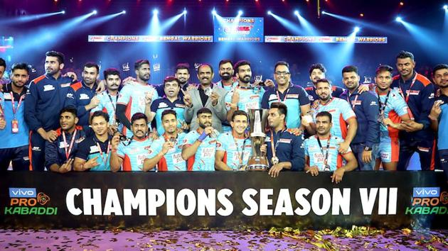 Bengal Warriors won the PKL 2019 title.(PKL)