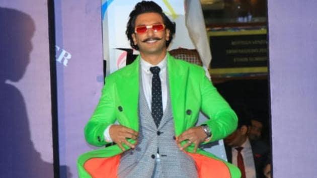 Ranveer Singh at an event on Saturday.(Varinder Chawla)
