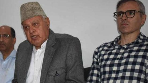 Farooq Abdullah, his son and former Kashmir chief minister Omar Abdullah, PDP president and former chief minister Mehbooba Mufti and several others remain under detention in Srinagar since August 4, a day before the Centre scrapped Article 370.(ANI File Photo)