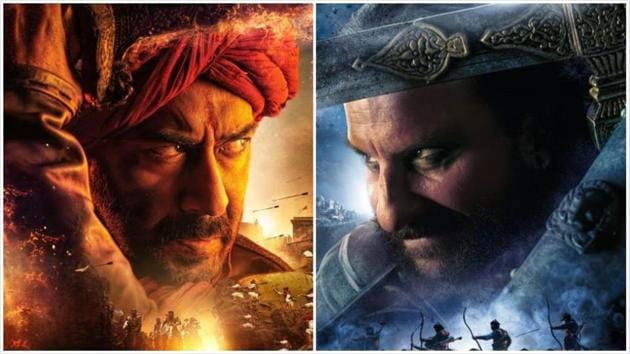 Ajay Devgn and Saif Ali Khan's first looks from Tanhaji The Unsung Warrior were revealed on Monday.