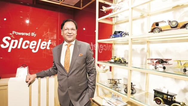 Ajay Singh, Chairman and Managing Director, SpiceJet(Sanjeev Verma/HT PHOTO)