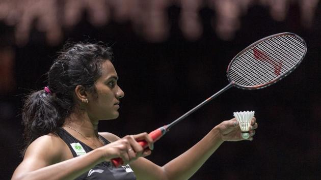 File photo of PV Sindhu in action.(AP)
