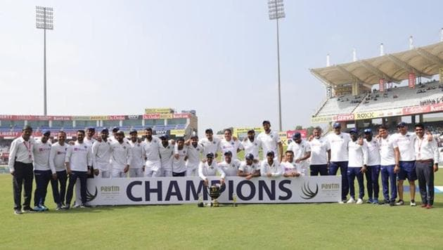 India thumped South Africa in the 3-match Test series(Virat Kohli/Twitter)