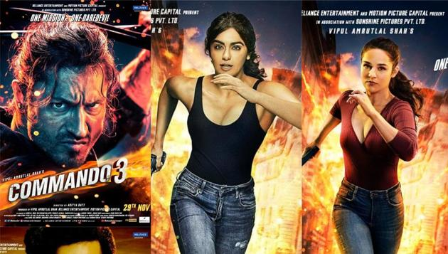Commando 3 posters: Angira Dhar, Vidyut Jammwal, Adah Sharma and Gulshan Deviah are all set for a new mission.