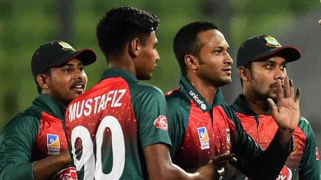 Representative image: File image of players of Bangladesh cricket team celebrating after the fall of a wicket.(Getty Image)