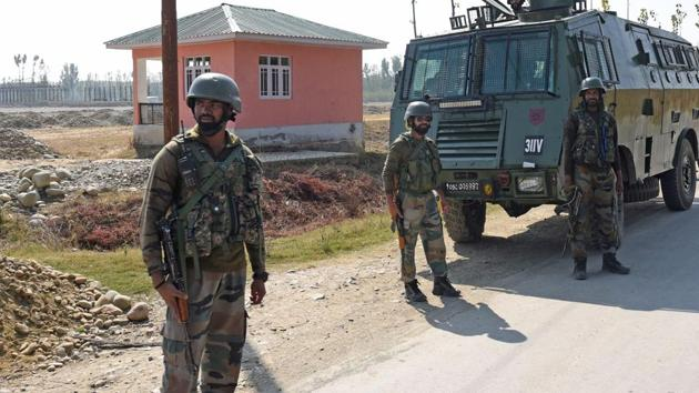 File photo of Army soldiers in Jammu and Kashmir. (Photo by Waseem Andrabi/ Hindustan Times)