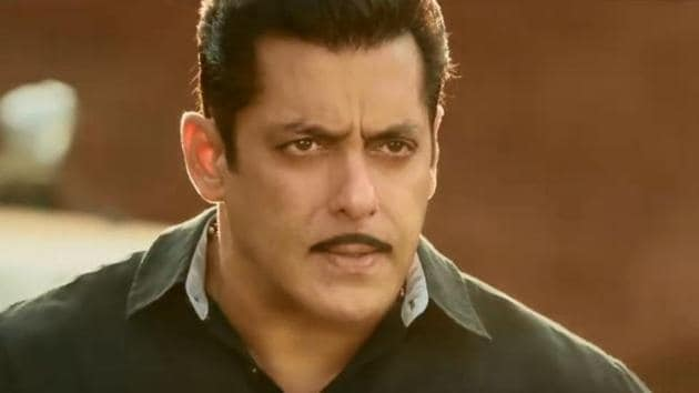 Salman Khan and Saiee Manjrekar at the Dabangg 3 trailer launch event.