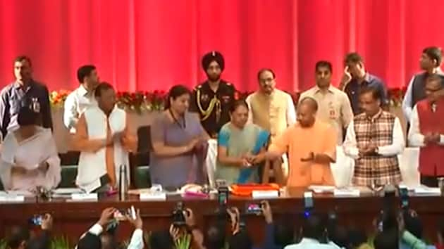 Uttar Pradesh Chief Minister Yogi Adityanath launched 'Mukhya Mantri Kanya Sumangala Yojana' in Lucknow. Union Minister of Women and Child Development, Smriti Irani and Governor of Uttar Pradesh, Anandiben Patel were also present. The Mukhya Mantri Kanya Sumangala Yojana aims at empowering the girl child. Under the scheme, Rs 15,000 will be given to families in which a girl child is born.