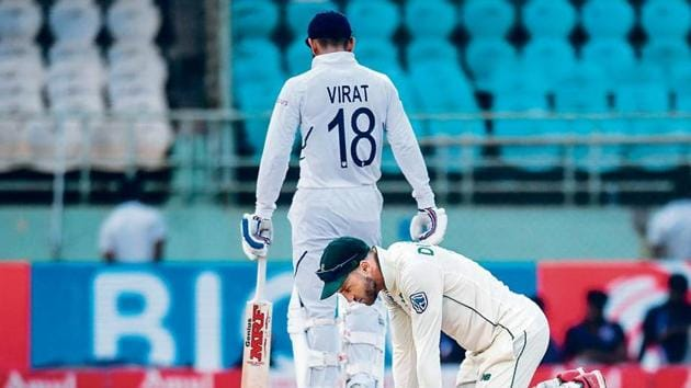 Faf du Plessis's South Africa went down 3-0 to Virat Kohli's India, in a three-match Test series where they followed on twice(AFP)