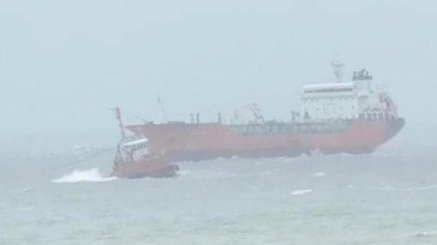 The tanker broke free of its anchor in inclement weather, high waves and strong winds and drifted towards Dona Paula in the capital city of Panaji.(Sourced Photo)