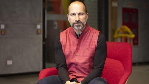 Dara Khosrowshahi, chief executive officer of Uber Technologies Inc., in Bengaluru, , Oct. 23, 2019.(Bloomberg)