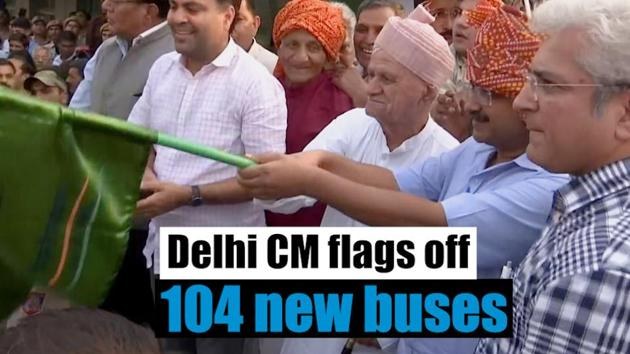 Delhi Chief Minister Arvind Kejriwal flagged off 104 new standard floor buses. The new buses were launched from Dwarka Sector 22 bus depot. The buses will add to the current public bus fleet of 5,454. While 20 of the 104 buses will operate on Nangloi-Badarpur Extension route, 19 will ply on Qutubgarh Border to Old Delhi route.