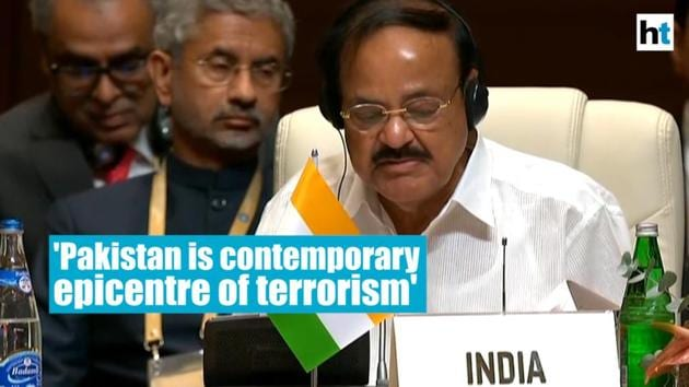 """Pakistan is the """"contemporary epicentre"""" of terrorism and must give up its policy of cross-border terrorism against its neighbours to earn the confidence of the world community, India's Vice President M Venkaiah Naidu said on Friday. Naidu made the remarks while addressing the 18th summit of the Non-Aligned Movement in the Azerbaijan capital of Baku. The vice president is representing India at the summit after Prime Minister Narendra Modi opted to skip the meeting. The Vice President also met President of Cuba Miguel Díaz-Canel and Vietnam' Vice President Dang Thi Ngoc Thinh on the sidelines of the summit. On his arrival, Naidu had met Azerbaijan President Ilham Aliyev."""